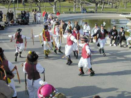 Berkeley Morris dancing the Windmill