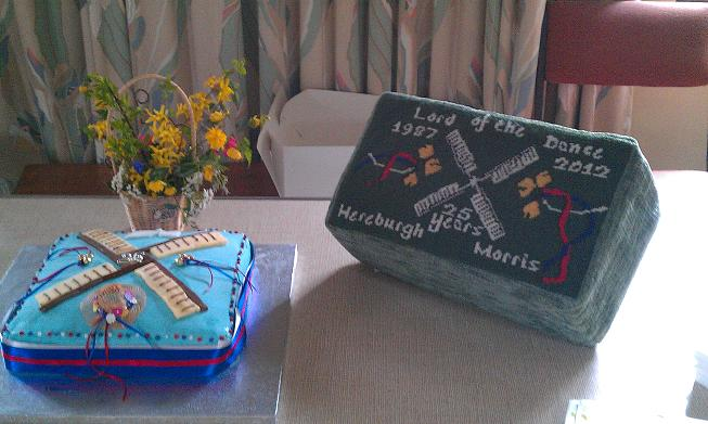 Hereburgh's 25th Birthday cake and commemorative hassock can be seen in Harbury's All Saints Church.