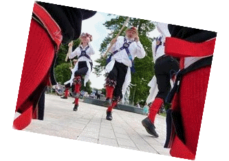 Hereburgh dancing in Stratford-upon-Avon