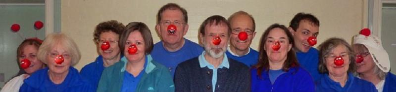 with Mick Dunn of Shakespeare Morris at Hereburgh's Workshop on Red Nose Day, March 16th 2013